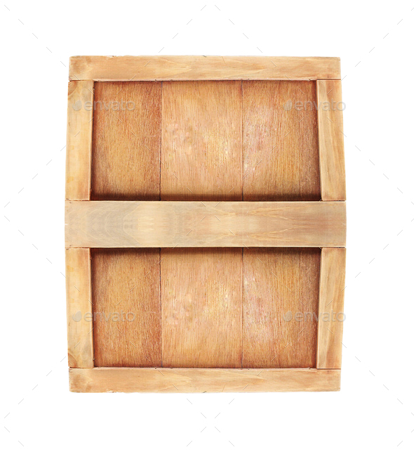 wooden box for beer or cognac - Stock Photo - Images