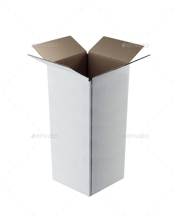Open cardboard box closeup - Stock Photo - Images
