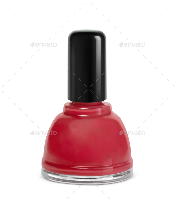 red nail polish - Stock Photo - Images
