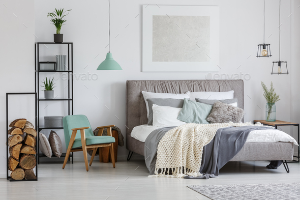 Room with wood pieces - Stock Photo - Images