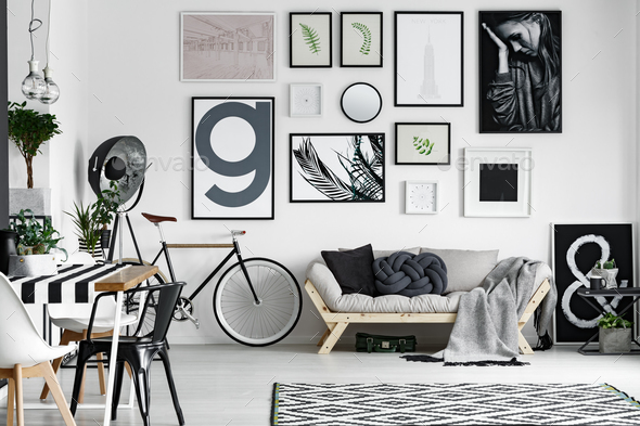 Bike in the room - Stock Photo - Images