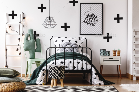Kids bedroom with accessories - Stock Photo - Images