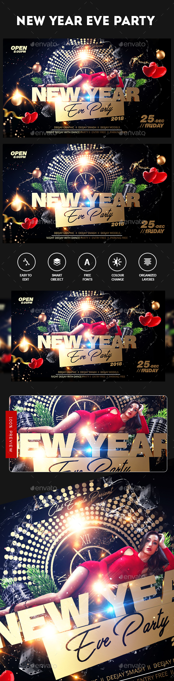 GraphicRiver Christmas Party Flyer 21147897