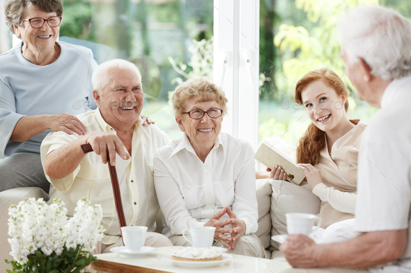 Senior people spends time together - Stock Photo - Images