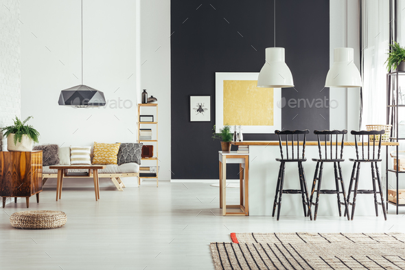 Cozy vintage living room - Stock Photo - Images