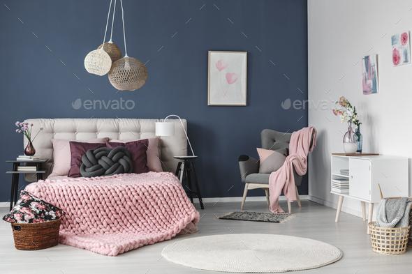 White carpet on floor - Stock Photo - Images
