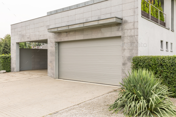 Garage in big house - Stock Photo - Images