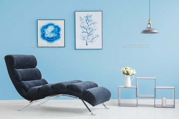 Living room with two pictures - Stock Photo - Images