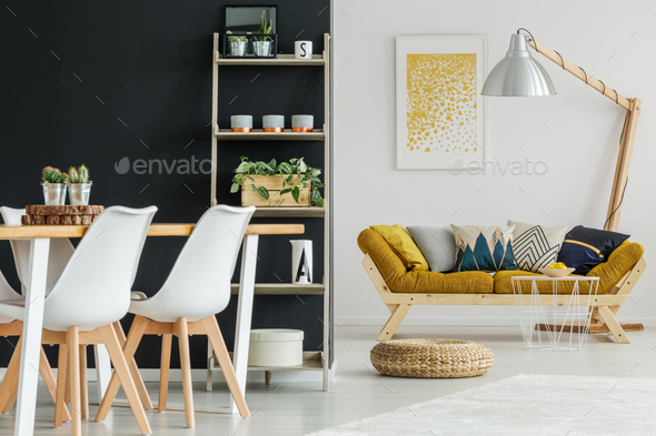 Open space with designed furnishings - Stock Photo - Images