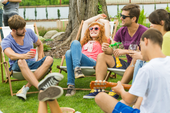 Spending time with friends - Stock Photo - Images