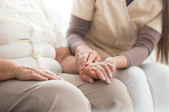Elderly person with parkinson - Stock Photo - Images