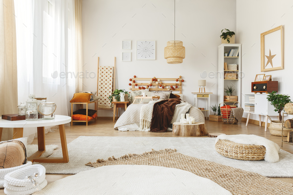 Three carpets in bedroom - Stock Photo - Images