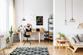 Freelancer in cozy white office - PhotoDune Item for Sale