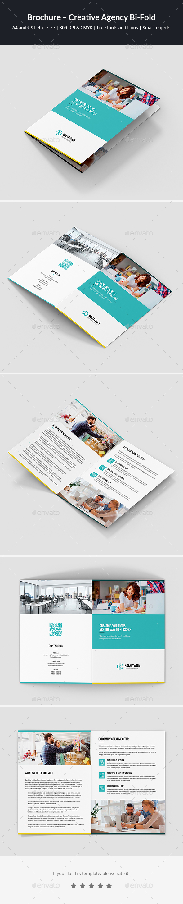 Brochure – Creative Agency Bi-Fold - Corporate Brochures