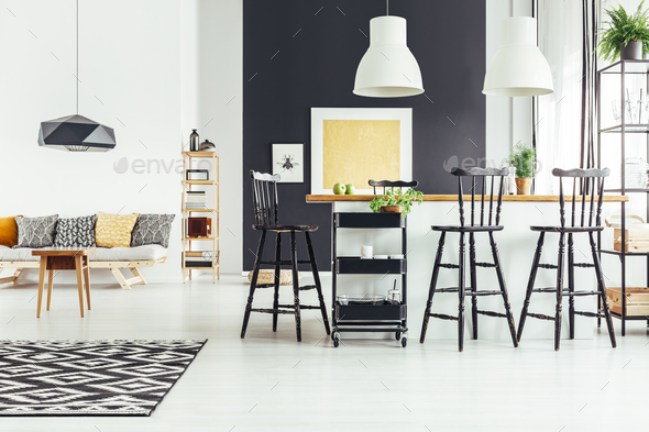 Open space with bar stools - Stock Photo - Images
