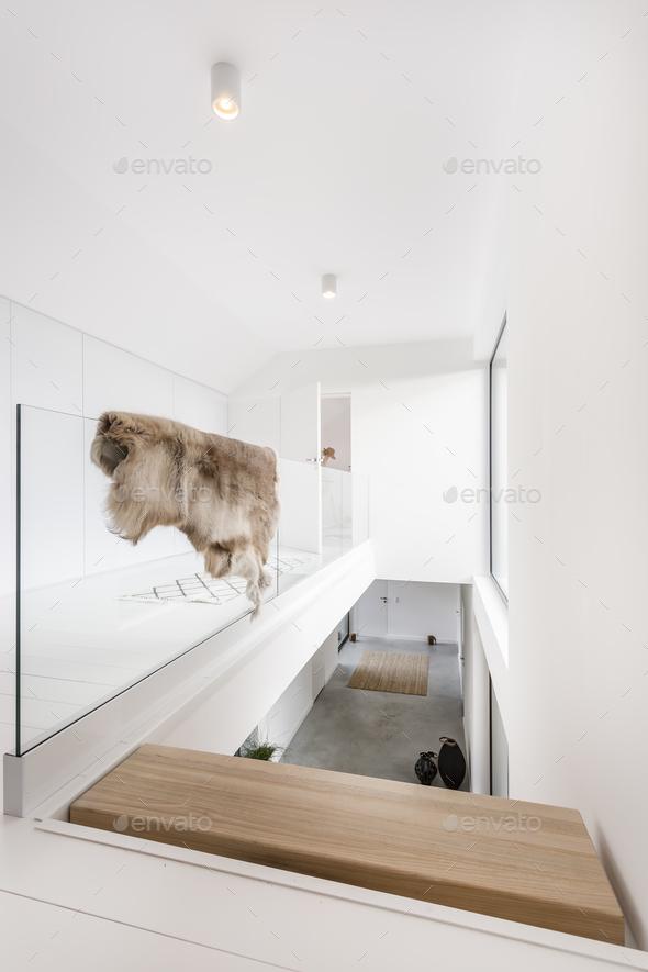 Upper floor of luxurious villa - Stock Photo - Images