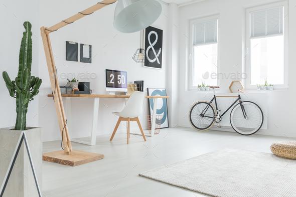 White spacious studio - Stock Photo - Images