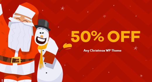 Christmas Discount 50% on ThemeForest