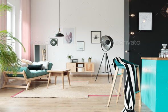 Pastel open space interior - Stock Photo - Images
