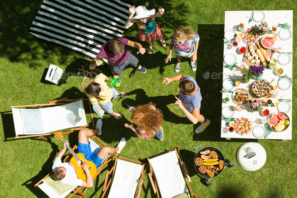 Casual garden party - Stock Photo - Images