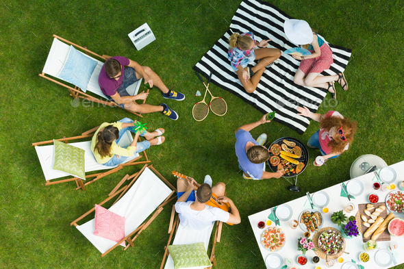 Barbecue from the top - Stock Photo - Images