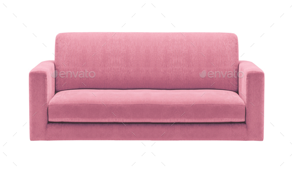 pink sofa isolated - Stock Photo - Images