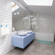 Bathroom with white brick wall - PhotoDune Item for Sale