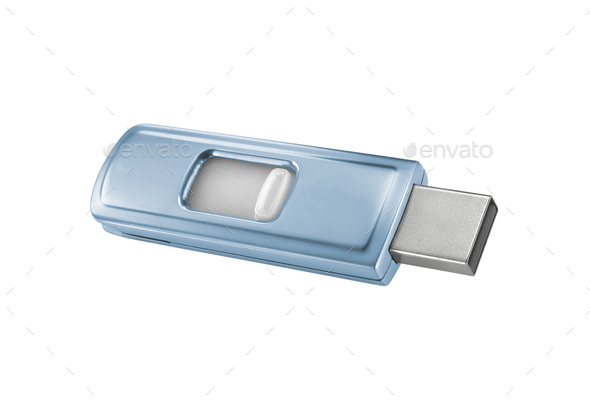 isolate flash-drive isolated on white background - Stock Photo - Images