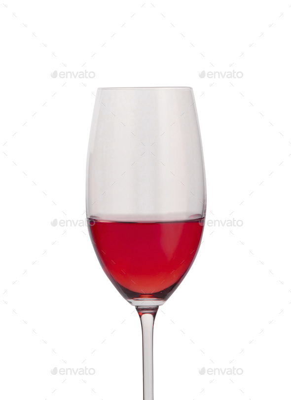 Red wine in a glass isolated - Stock Photo - Images