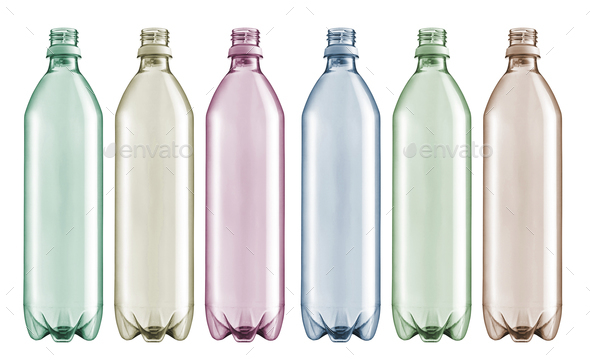 Bottles of water isolated - Stock Photo - Images