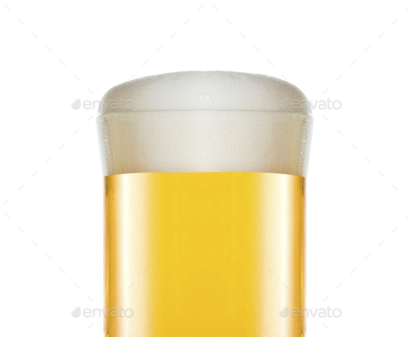 Glass of beer close up - Stock Photo - Images