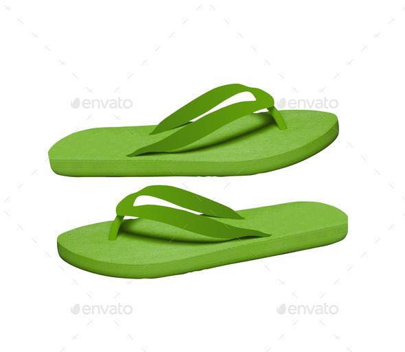 flip-flops isolated on white background - Stock Photo - Images