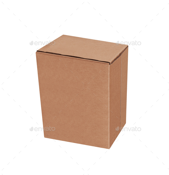 Cardboard box isolated - Stock Photo - Images