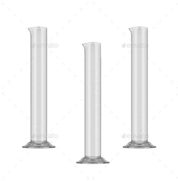 chemical glasses isolated - Stock Photo - Images