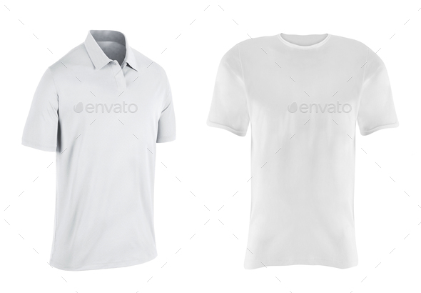close up of a t shirts on white background - Stock Photo - Images