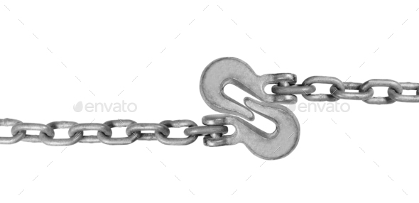 Metal hooks isolated - Stock Photo - Images