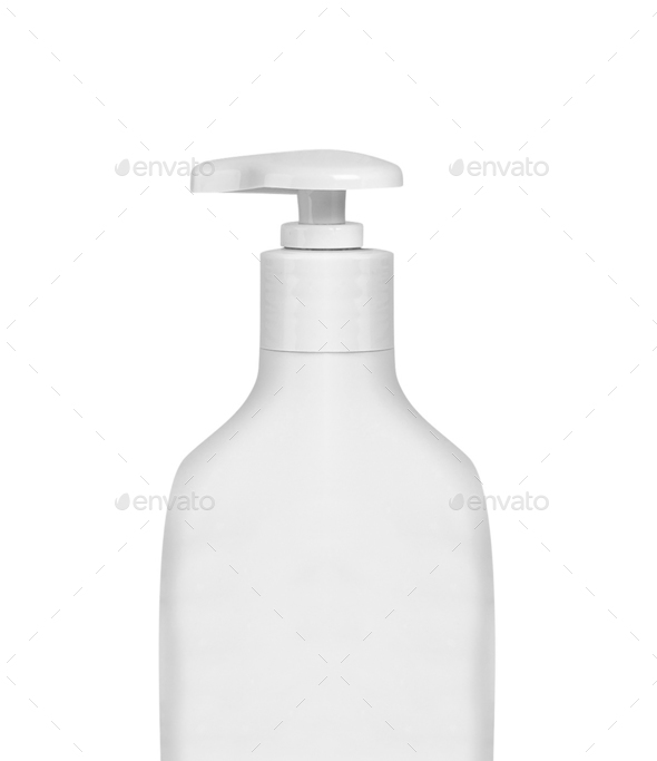 Gel, Foam Or Liquid Soap Dispenser Pump Plastic Bottle White isolated - Stock Photo - Images