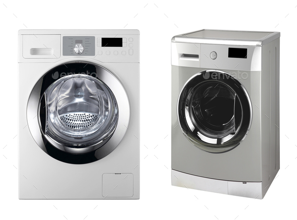 washing machines isolated - Stock Photo - Images