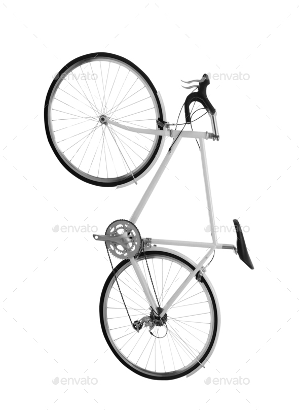 Bicycle isolated on white - Stock Photo - Images