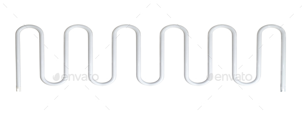 towel rail isolated - Stock Photo - Images