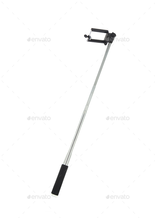 modern selfie stick isolated - Stock Photo - Images