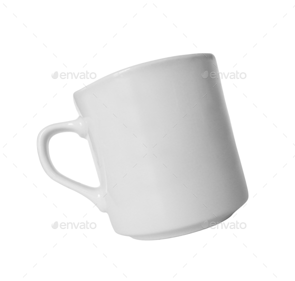 White cup isolated - Stock Photo - Images