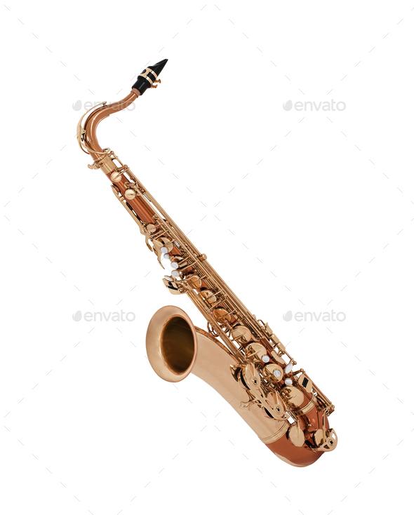 Saxophone isolated - Stock Photo - Images