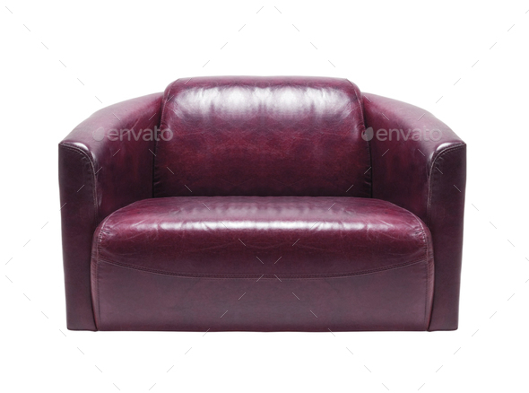 leather armchair isolated - Stock Photo - Images
