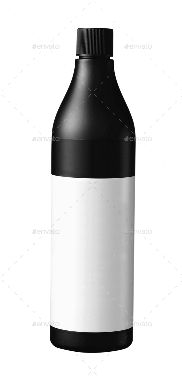 Medical bottle of brown color isolated on white background - Stock Photo - Images