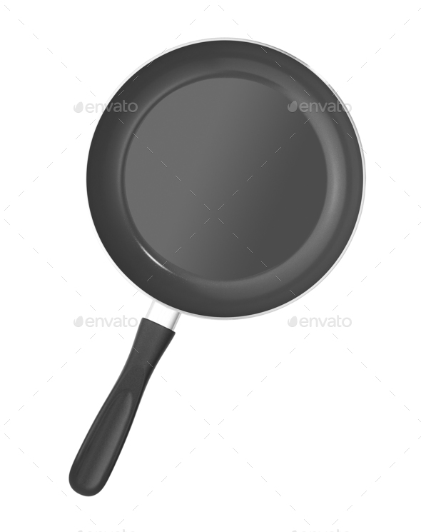 empty pan isolated - Stock Photo - Images
