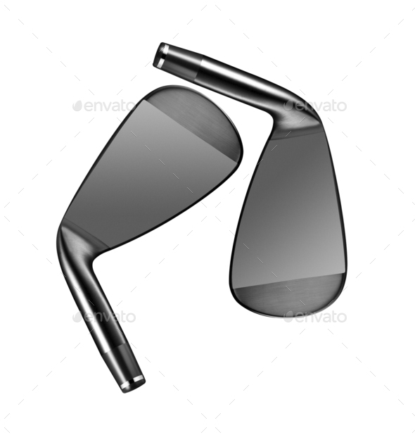 Golf clubs isolated - Stock Photo - Images