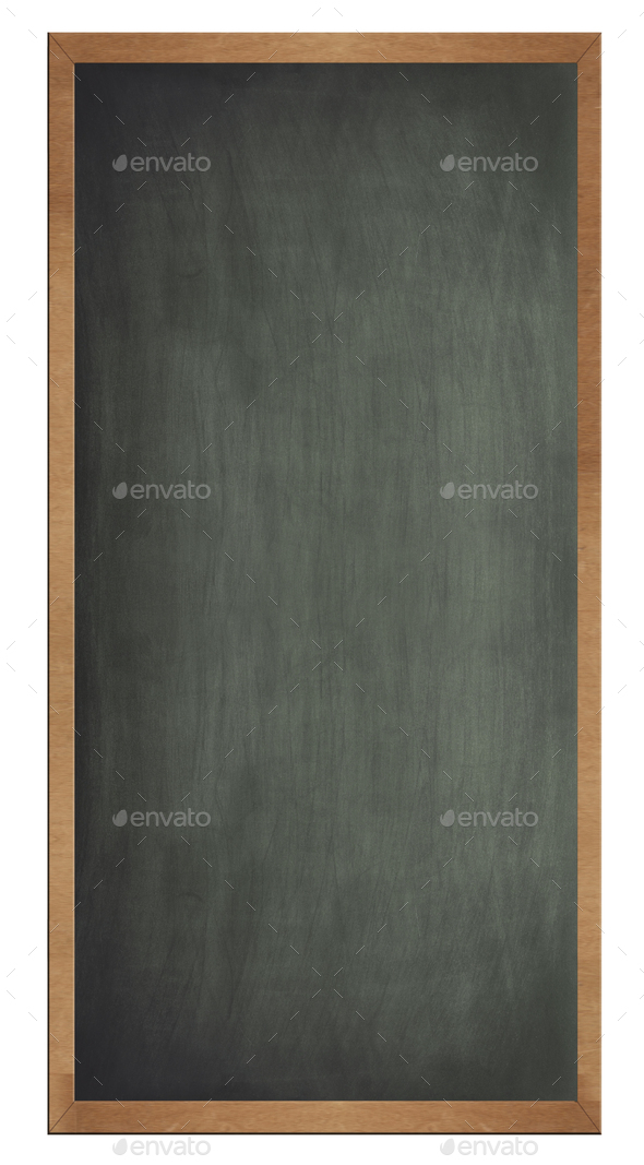 Blank old blackboard isolated - Stock Photo - Images