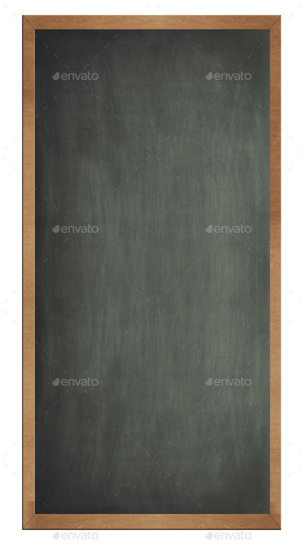 Blank old blackboard isolated - Stock Photo - Images