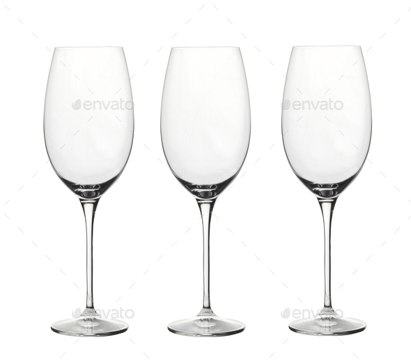 Wineglasses isolated on white - Stock Photo - Images